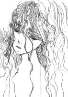 Girl with one line V by Katarinea