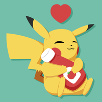 Pikachu and His Ketchup by EvanSpritemaker