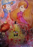 Gravity Falls - Dipper and Mabel art by Damian-Damian
