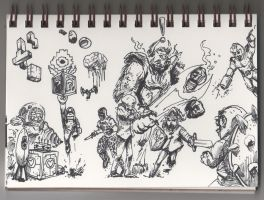 04 21 2012 Daily Draw Games April Doodle Challenge by LineDetail