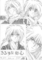 1st volume of Rurouni Kenshin - Chap.3 by arylinlamelune