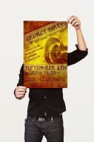 Grungy Party Poster by CaCaDoo