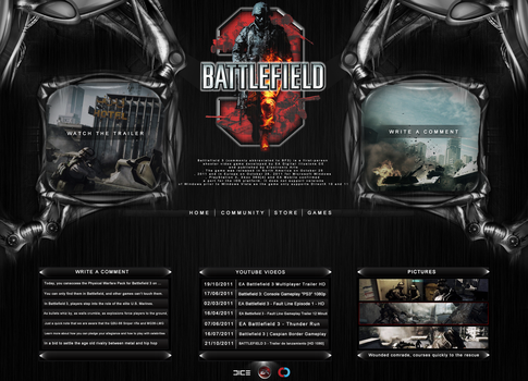 Battlefield 3 Layout by criticalGFX