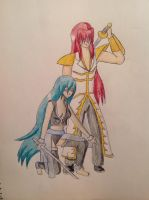 Shauni and Jin by swordsman9
