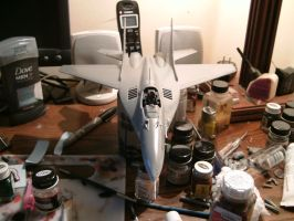 Revell 1/48 MiG 29A progress 3.1 by Visual-Smut
