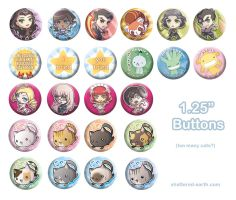 Buttons for Otakon by Shattered-Earth
