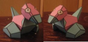 Porygon papercraft by paperart