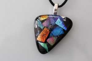 Triangle Dichroic Fused Pendant by Dimolicious