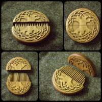 Tree Of Life hair comb by pagan-art