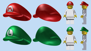 LEGO Mario and Luigi Caps by mingles