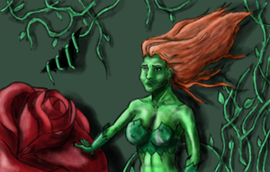 Poison Ivy with a rose by XerafCZ