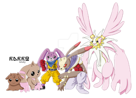 Lopmon evolution line 2 by MeoWmatsu