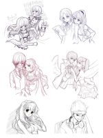 . Sketch Commission Compilation . by WhiteKana