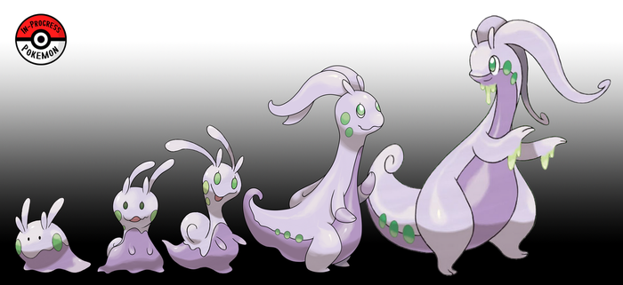 704 - 706 Goomy Line by InProgressPokemon