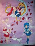 Sailor Moon Painting WIP by Fallonkyra