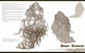 Yog Sothoth Model Sheet by TentaclesandTeeth