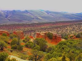 Red Canyon North 2 HDR by michaelgoldthriteart
