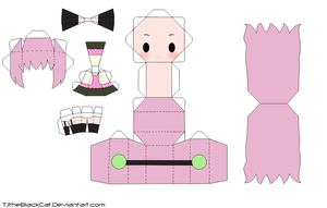 Happy Synthesizer Luka Papercraft by Tamuu-ii