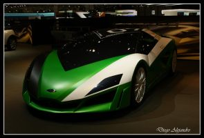 Green car by xanderking