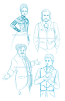 Penny Dreadful Character Sketches 1 by RedPassion