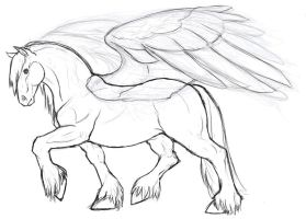 Clydesdale Pegasus by whisperpntr