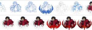 Alucard Steps side by side by Washu-M