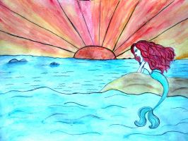 Ariel water color painting by avadaxxxkedavra