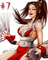 Day 7: Mai Shiranui by cynthiafranca