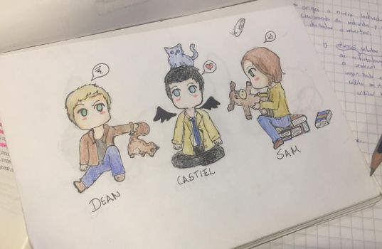 Chibi Team Free Will #2 - Supernatural by Majoh801