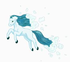 Water Ponyta by Ferngirl