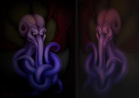 Portrait of a Mind Flayer by justjingles
