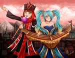 L.O.V.E Valentines Day Special: Karthus and Sona by oddish-enigma