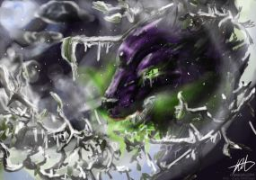 Sudden Frost and toxic drool by CrypticInk