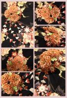 Another hand painted kanzashi by CovenEye