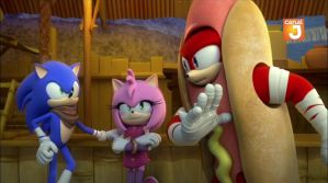 Sonic, Amy, and Knuckles by TanyaTackett