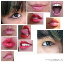 another stock pack : 2eyes+9lips by sophiaastock