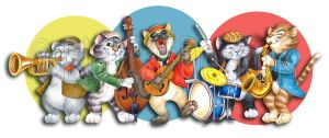 Jazzy Cats by bigcatdesigns
