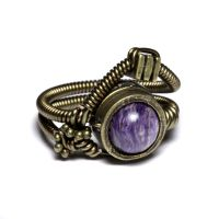 Steampunk ring charoite 2 by CatherinetteRings
