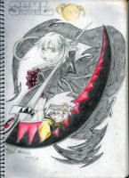 Maka and Soul - Scythe Mode by blackpapermoon95
