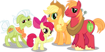 The Apple Family by Vector-Brony