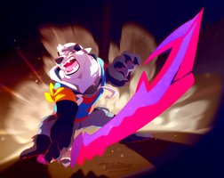Bear and the Blade by super-tuler