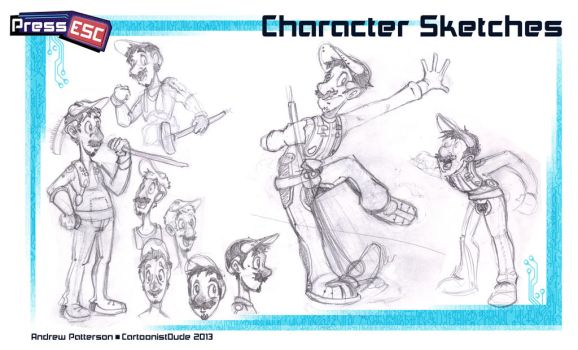 Press Esc: Character Sketches by AndrewArtist