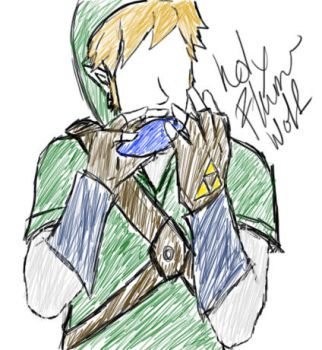 Quick Sketch of Link by holyflamewolf