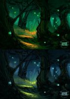 Magic forest sketches by LASILFIDEOSCURA