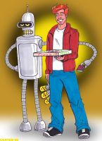 Bender and Fry by VectorAttila
