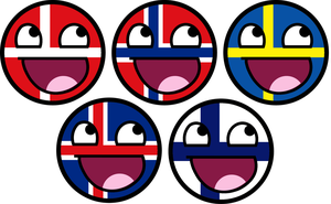 Scandinavian Awesome Faces by TigerJ15