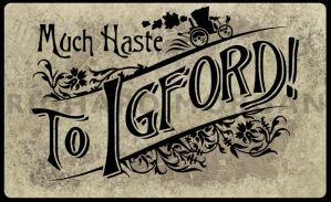 Much Haste to Igford - Logo by zonefox
