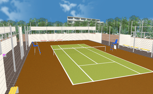 MMD Tennis court by amiamy111