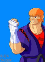 Street fighter 25th, Allen Snider by WayneAlright