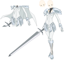 claymore holding sword by TheDarknessWolf